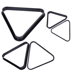 Plastic Durable 8 Ball Pool Billiard Table Rack Triangle Rack Plastic Standard