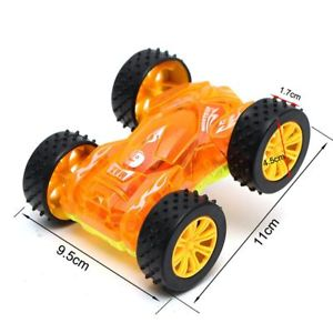 Gift Glowing Flashing Light Electric Car Model Double-sided Vehicle Toy