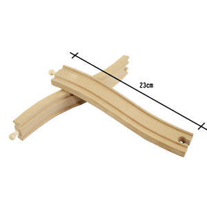 1 Pcs Wooden Train Big S Track Railway Accessories Compatible All Major Brand EF