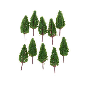 10pcs/Set 68mm Plastic Model Trees For Park Street  landscape Scene Scenery EF
