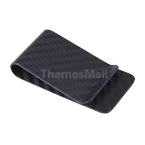 Carbon Fiber Money Clip Matte Credit Card Holder Money Wallet