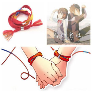 ,Love Movie Kimi no Na wa Your Name Miyamizu Mitsuha Bracelet Rope With Button