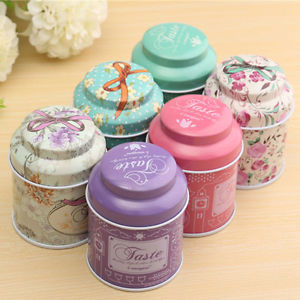 Flower Design Metal Sugar Coffee Tea Tin Jar Container Candy Sealed Cans Box EF