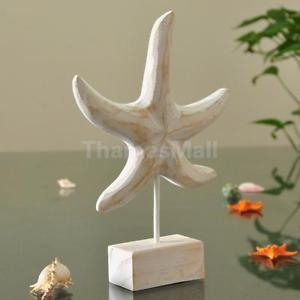 Mediterranean Nautical Wooden Craft Party DIY Tabletop Starfish Art Ornament