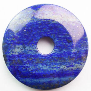 R0080832 Beautiful Lapis Lazuli Donut Pendant Bead 50x7mm