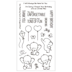Transparent Stamp Cartoon Elephant DIY Silicone Scrapbooking Card Decor Gracious