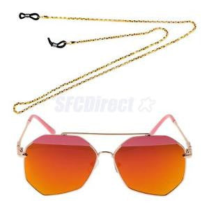 Alcoa Prime Big Oversized Rim Sunglasses Metal Frame Unisex Eyeglasses + Eyeglass Chain