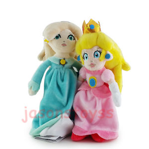 Alcoa Prime 2Pcs Super Mario Brothers 8'' Princess Peach & Rosalina Stuffed Plush Toy Doll