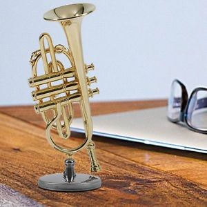 Alcoa Prime Nice Gift Mini Cornet For Child Surface Gold Lacquer Mini Cornet Model LN