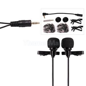 Clip-on Lapel Mini Lavalier Mic Microphone for Smartphone Recording PC