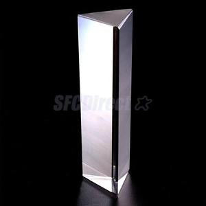 "Alcoa Prime 6"" Optical Glass Triangular Prism Children Physics Science Learning Aid"