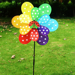 Alcoa Prime Lovely Colorful Cloth Windmill Home Garden Party Wedding Decoration Kid Toy