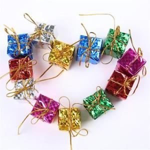 6Pcs 4cm Colorful XMAS Small Gift Boxes Christmas Tree Hanging Decoration