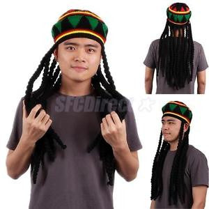 Alcoa Prime Rasta Hat Beanie Reggae Bob Marley Rastafarian Jamaica Fancy Dress Accessory