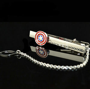SuperHero style business tie clip Men's weddings banquets party gifts
