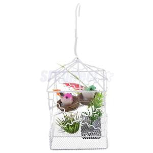 Alcoa Prime Battery Operated Realistic Singing & Chirping Bird Toy with Cage Nest Decor
