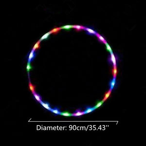 Alcoa Prime 24 Lights 90cm Colorful Light Flash LED Hula Hoop Abdominal Fitness Increased