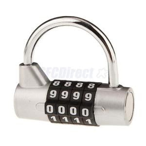 Alcoa Prime 4 Digit Alloy 52MM Combination Padlock Travel Luggage Safety Lock - Silver S