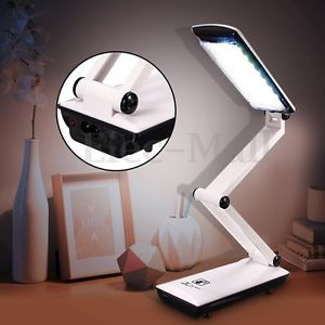 Foldable 22 LED Touch Control Lamp Rechargeable Reading Table Desk Light Gifts