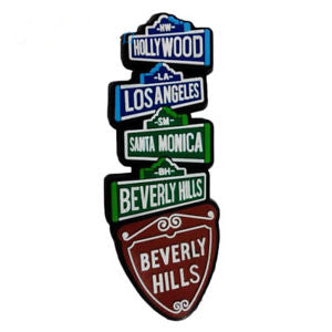 Hollywood Beverly Hills Los Angeles USA Travel Tourist Souvenir Fridge Magnet