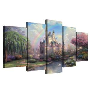 Alcoa Prime DIY Canvas Modern Deco Wall Painting Fairy Castle No Framed 30*50/70/80cm L