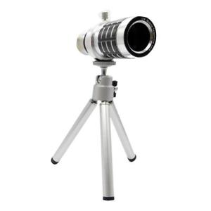 Universal 12X Optical Zoom Phone Telephoto Lens Telescope Camera Tripod Kit