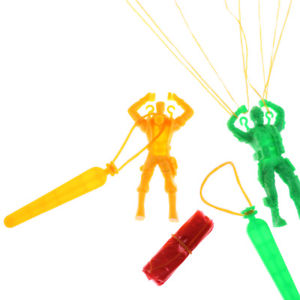 Hand Throwing Kids Mini Play Soldier Parachute Toy Children's Educational Toys~~