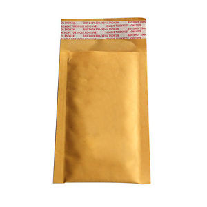 10Pcs 90*130+40mm Kraft Bubble Envelopes Mailers Shipping Yellow Bags Tb