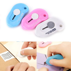 1X Portable Knife Paper Cutter Cutting Paper Razor Blade Office Mini Stationery