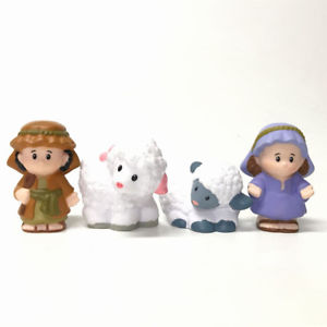 Alcoa Prime 4pcs Fisher-Price Little People Holy Mother Shepherd With Sheeps Nativity Figure