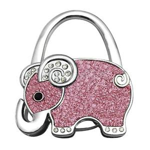 4 Pieces Different Colors Elephant Shanpe Portable Folding Bag Hook Hanger