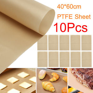 10 Sheet Non-Stick Heat Press Pad Paper Pressing Baking Pastry Mat 16''x24''