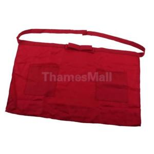 DarkRed Half-length Short Waist Apron Pocket Catering Chef Waiters Bar Apron