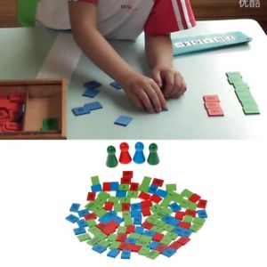 Montessori Stamps Game Math Toys Kid Children Early Teaching Toys Gift Wooden