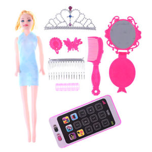 Creative Cartoon Designed Barbie Dolls DIY Toy Accessory@