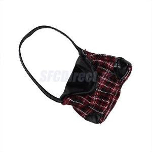 Alcoa Prime Red Tartan Check Handbag for Barbie Doll Simple designed and fine crafted NEW
