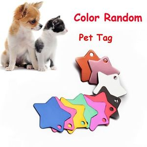 5 PCS Random Message Blank Pet Tag Star Pendant Anti-Lost Dog ID