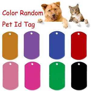 5 PCS Random Message Dog Name Pendant Pet ID Tag Anti-Lost Rectangle Shape
