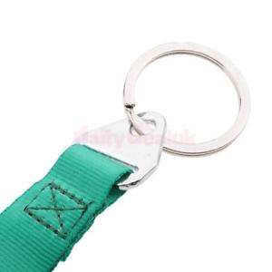 Alcoa Prime Mini Green Car Racing Tow Hook Nylon Strap Band Car Key/chain Keyring Keyfob