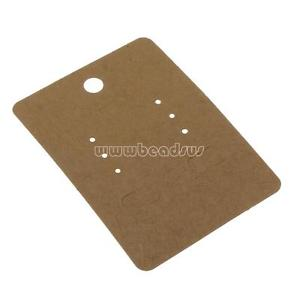 500PCs Blank Hanging Fold Over Necklace Ponytail Display Card Kraft Paper