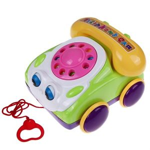 Baby Kids Pull Along Chatter Box Phone Telephone Toys with Ringing Sound
