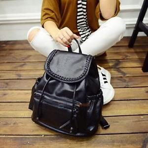 Women Ladies Backpack Travel PU Leather Handbag Rucksack Shoulder School Bag