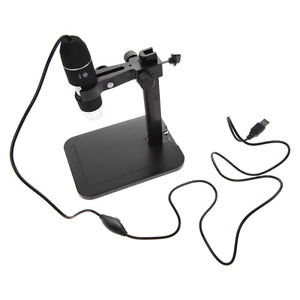 USB Digital Microscope 2MP 1000X 8 LED Endoscope Magnifier+Lift Stand Vista/Win7