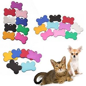 5 PCS  Alloy Message Anti-Lost Colorful Pendant Dog ID Pet Tag for Random