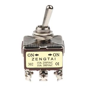 3PDT 2 Position ON/ON 9 Pin Mini Toggle Switch 15A/250V 10A/380V