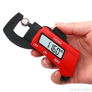 0-12.7mm Portable LCD Digital Thickness Gauge Meter Micrometer Tester Tool NEW