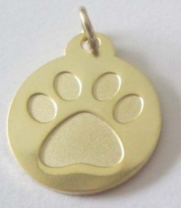 Alcoa Prime Gold 30mm Paw PUNCH Dog Pet Cat Pet Disc Dog Tag or Cat tag Engraved DD011