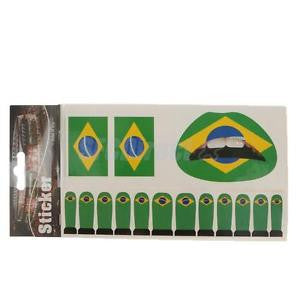 Alcoa Prime Brazil National Flag Nail Face Temporary Tattoo for Fans Olympic Party Favor