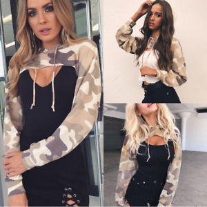 Women Warm Long Sleeve Hoodies Jumper Pullover Sweatshirts Shirts Coat we