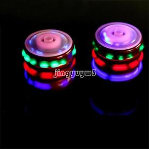 Spinning Top Toy Spinner Colorful Laser Gyro Musical Fun Peg-Top Kids Gift Toy